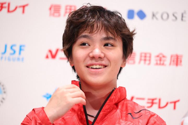 全日本選手権ではスケートを楽しむ自然体の宇野の姿があった。写真:長田洋平/アフロスポーツ