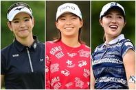 左から原、渋野、古江。女子の五輪代表を巡る争いはさらに熾烈を極めそうだ。(C)Getty Images