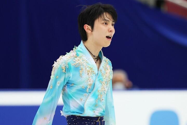 昨年末の全日本選手権で5年ぶり5度目の優勝を飾った羽生。写真:森田直樹/アフロスポーツ