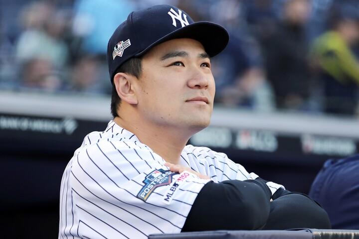 去就が定まらない田中。日米どちらで投げるのか、契約額は日本が上回るとの報道もある。(C)Getty Images