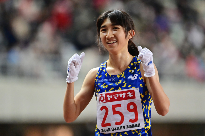 5000mで東京五輪代表に内定している、田中希実。(C)Getty Images