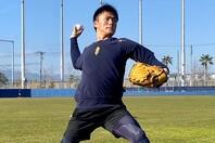 山本は自主トレ後に「肩の状態はいいし、しっかりと体が出来ているので何でもできる」と手応えを滲ませた。写真:球団提供