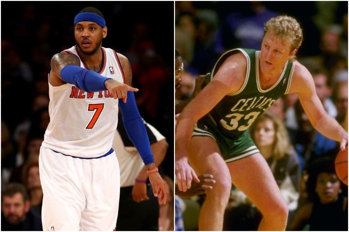 カーメロ(左)、バード(右)など新旧のスター選手が各球団のランキングに名を連ねた。(C)Getty Images