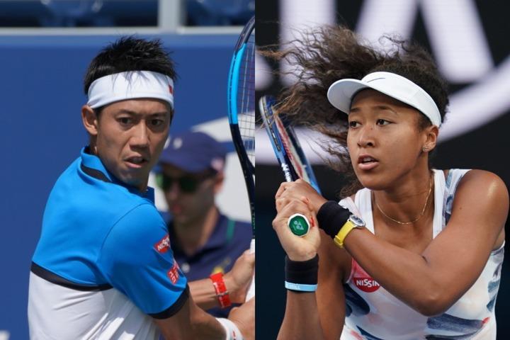錦織圭は国別対抗戦「ATPカップ」、大坂なおみは「ギプスランド・トロフィー」に出場。写真:THE DIGEST写真部