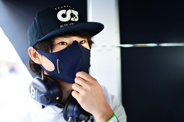 今季F1デビューする角田の才能は、各国で高く評価されているようだ。(C)Getty Images