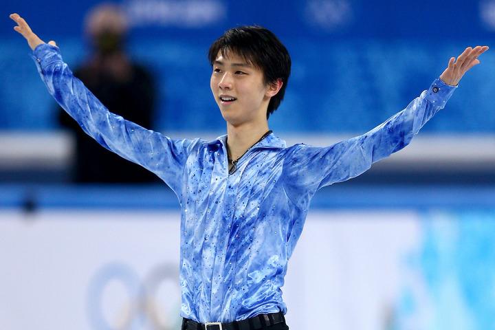 遡ること7年前の2月14日、羽生がソチ五輪でアジア人初となる男子シングル金メダルを獲得した。(C)Getty Images