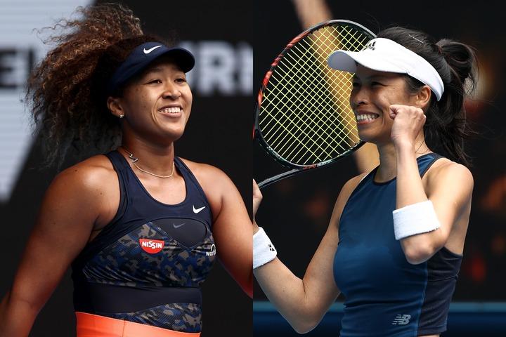 全豪オープン準々決勝で激突する大坂とシェイ。対戦成績は大坂に分がある。(C)Getty Images