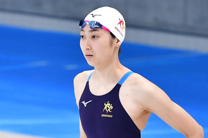 復帰後初の100メートルバタフライに挑んだ池江璃花子は3位とした。(C)Getty Images