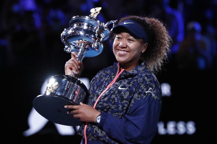 2年ぶり2度目の全豪制覇を飾った大坂。その注目度は海外での急加速的に高まっている。(C)Getty Images