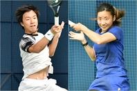 インカレに続いて男子シングルスを制した白石光(左)と、女子シングルスで2連覇を飾った松田美咲(右)。写真提供:全日本学生テニス連盟