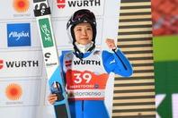 世界選手権で銅メダルを獲得した高梨沙羅。(C)Getty Images