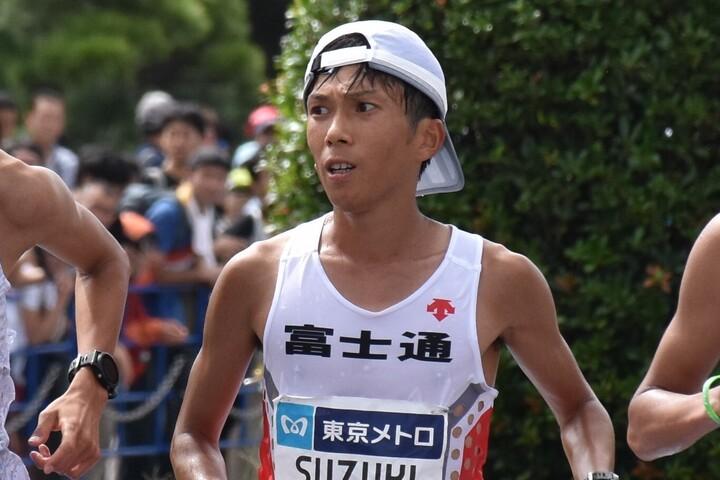 マラソン日本記録保持者となった鈴木健吾。写真はMGCの時のもの。