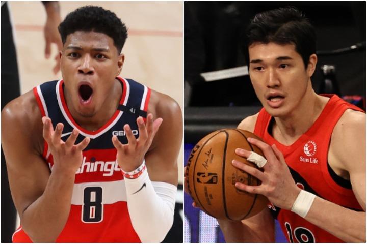 NBAで躍進を続ける八村塁(左)と渡邊雄太(右)。(C)Getty Images