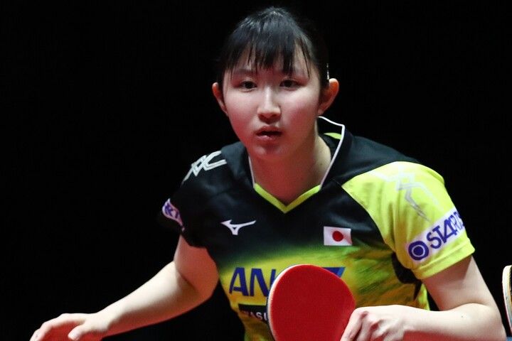 早田ひな、ベスト4をかけた準々決勝でフルゲームの末敗退とした。(C)Getty Images