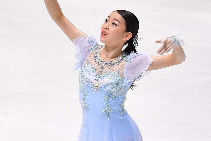 全日本選手権で2連覇を果たした紀平。意気揚々と世界選手権に臨む。(C)Getty Images