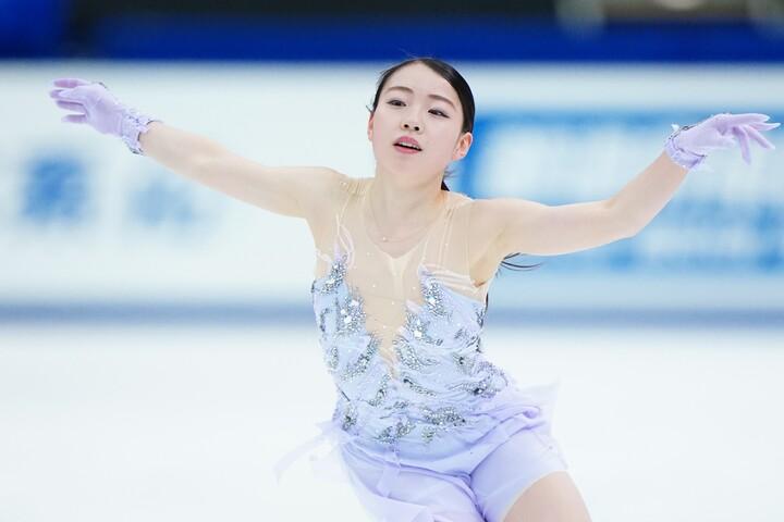 世界選手権でも4回転ジャンプを構成に入れてきた、日本のエース紀平梨花。写真:日刊スポーツ/アフロ