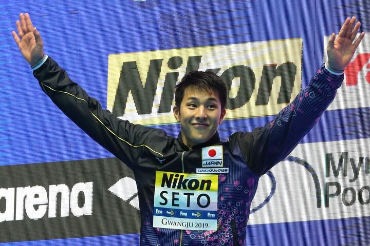 競泳界唯一の東京五輪内定者である瀬戸大也。4月の日本選手権では3種目に出場する。(C)Getty Images