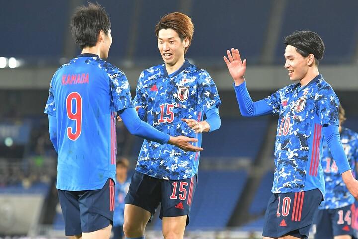 韓国代表を3-0で下して勢いに乗る日本代表は、30日にモンゴル戦に挑む。写真:金子拓弥(サッカーダイジェスト写真部/JMPA代表撮影)