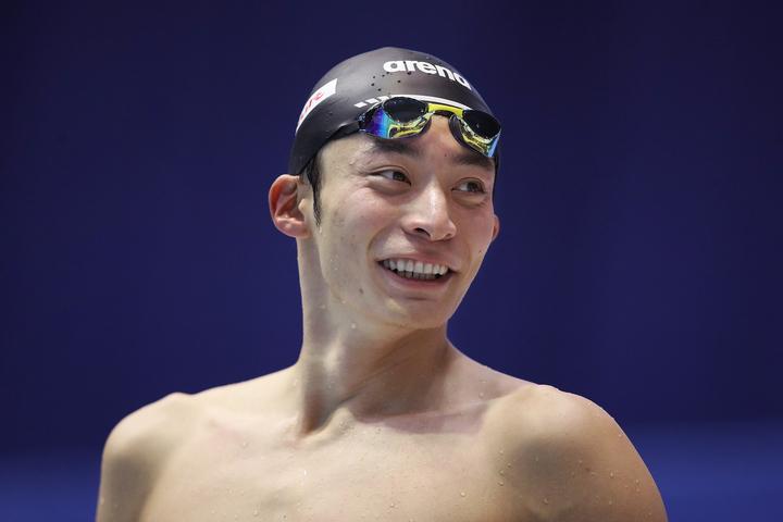 中学生から背泳ぎ専門になったという入江。タイムを争う水泳では泳ぎとともにターンも重要という。(C)Getty Images