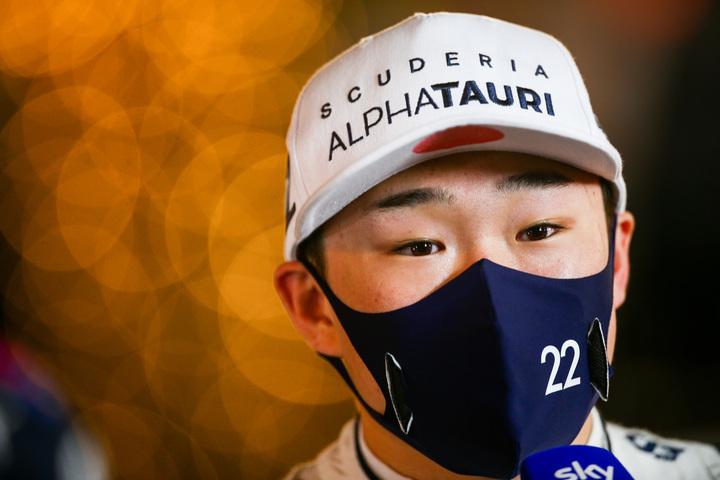 デビュー戦で9位入賞と好調な滑り出しを見せた角田には、大きな注目が集まっている。(C)Getty Images