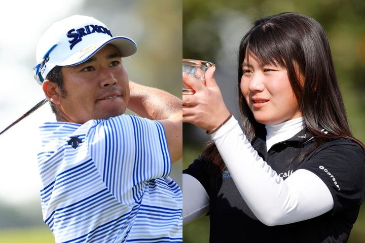 日本男子初のメジャー制覇を狙う松山(左)。先週、オーガスタ女子アマを制した梶谷(右)に続けるか。(C)Getty Images
