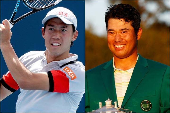 錦織(左)と松山(右)は交流があり、錦織は2016年リオ五輪前に松山の欠場が決まった際は「会えるのが楽しみだった」と残念がっていた。(C)Getty Images