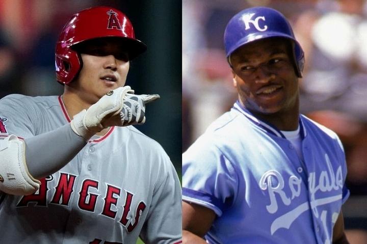 圧倒的な存在感を示す大谷(左)は、MLBでかつて一世を風靡したボー・ジャクソン(右)とも比較されている。(C) Getty Images