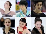 異例尽くしの今シーズンを終えた、上段左から、シェルバコワ、羽生、チェン。下段左からトゥルソワ、紀平、トゥクタミシェワ。(C)Getty Images