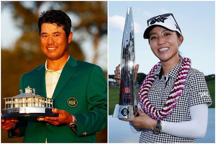 """3年ぶりのツアー優勝を果たしたリディア・コ(右)。松山(左)とスピースの""""復活V""""に触発されていたという。(C)Getty Images"""