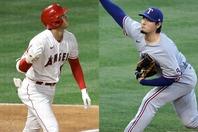 好投を見せた有原(右)、大谷(左)の大飛球も味方の好プレーで救われた。(C)Getty Images
