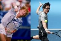 松井俊英は少年時代、ベッカーのダイナミックなテニスに惹かれた。30年近くを経た今、43歳の松井はそのテニスを体現しているようにも見える。写真:Getty Images、THE DIGEST写真部