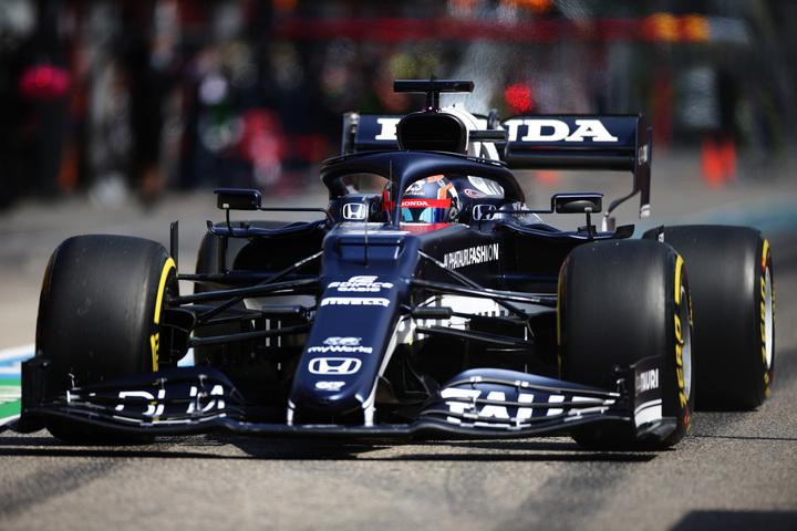 英メディアはアルファタウリのマシン「AT02」の速さについて、「予選のペースにおいて同チームは4番目に速い」とデータを示した。(C)Getty Images