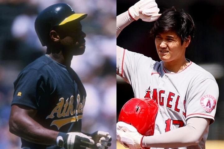 盗塁の天才と称されたヘンダーソン(左)。そんな球史に残るレジェンドと大谷(右)の比較論も飛び出した。(C)Getty Images