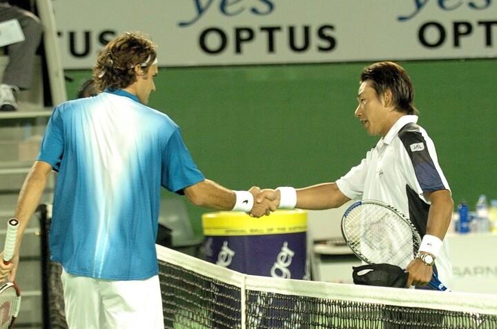 鈴木貴男の「一番印象に残っている試合」は、2005年全豪オープンのフェデラー戦。写真:THE DIGEST写真部
