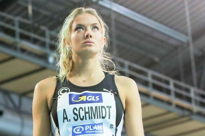 ドイツ陸上界の人気者、シュミットは初の五輪出場を果たせるか。(C)AFLO