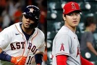 かつて横浜でもプレーし、日本のファンにも馴染みのあるグリエル(左)も、大谷(右)への賛辞を惜しまない。(C)Getty Images