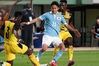 久保のゴールなどで6点を奪った日本代表のパフォーマンスに、ガーナメディアは脱帽するしかなかった。(C)Getty Images