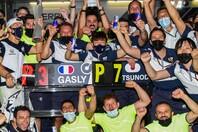 ガスリーが3位、角田が7位に入ったアゼルバイジャンGPは、チームにとって大きな成果を上げたレースだと言えるだろう。(C)Getty Images