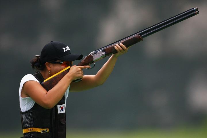 韓国女子クレー射撃の実力者であるキム・ミンジ。ここにきて東京五輪出場への道を断たれた。(C)Getty Images