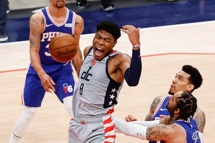 NBA2年目のシーズンを終えた八村。今季は自身初のプレーオフ出場を果たすなど、チーム・個人ともに成長を見せた。(C)Getty Images