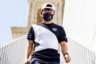 アゼルバイジャンGPで自己最高の7位に入った角田。今後の3連戦では、さらなる上位進出を狙う。(C)Getty Images