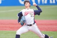 九州のドラフト候補ではナンバーワンの呼び声も高い隅田。春の段階で「今年のドラフトでは2位以内で指名される」との噂もあったが、その高い潜在能力を見せつけた。写真:田中研治