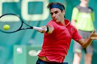 久々の芝での試合を快勝で飾ったフェデラー。(C)Getty Images