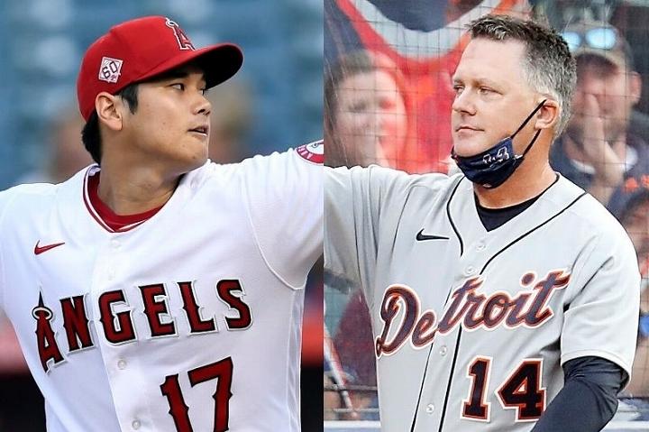 MLB屈指の頭脳派として知られるヒンチ(右)は、大谷(左)の存在感に脱帽した。(C)Getty Images