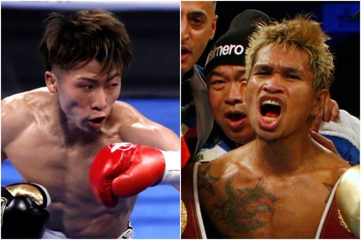 井上尚弥(左)との試合を楽しみにするカシメロ(右)。(C)Getty Images
