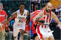 ウィギンズ(左)らNBA選手を多数擁するカナダは5大会ぶり、スパノーリス(右)が代表復帰したギリシャは3大会ぶりの五輪出場を狙う。(C)Getty Images