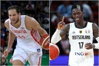 このグループは、ボグダノビッチ(左)とシュルーダー(右)というNBA選手が中心のクロアチアとドイツの争いが予想されている。(C)Getty Images