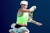 奇抜なファッションなどテニス界で異彩を放つマテック-サンズだが、アスリートとしては王道を歩んでいる。(C)Getty Images