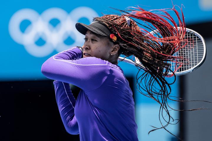 現在は東京オリンピックの開幕に備え、同大会の会場でトレーニングしている大坂。(C)Getty Images