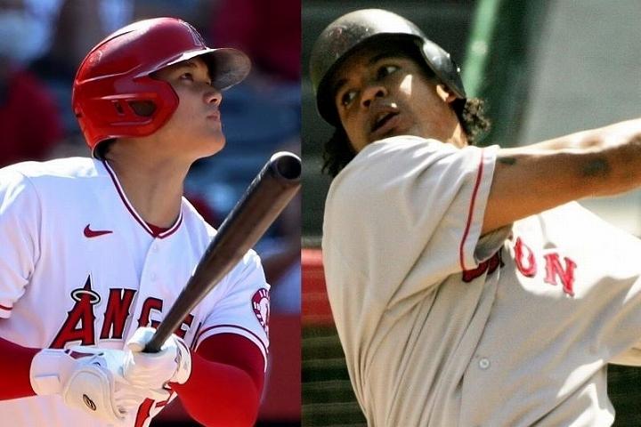 レッドソックスの主砲として活躍したラミレス(右)が、大谷(左)の打棒を褒めちぎった。(C)Getty Images
